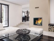 Wood thermo-fireplaces